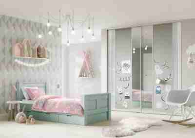 VOLANTE Pastel Blue Pure White Light Grey Mirror