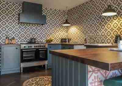 Inframe & walnut kitchen in North Notts