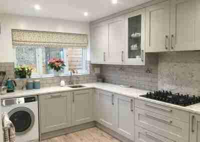 Warm shaker kitchen in North Notts