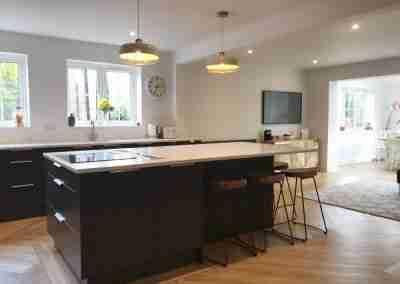 Understated slick modern kitchen