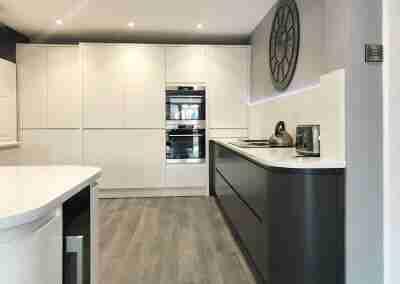 Sleek J Pull kitchen in Beeston Notts