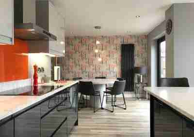 On trend kitchen with orange zest in North Notts