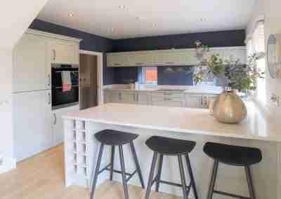 Modern partridge grey shaker kitchen in north notts