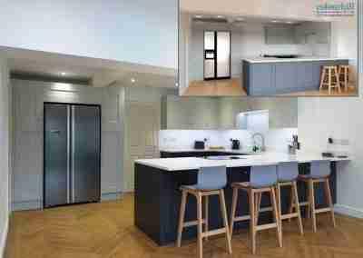 Dove grey & graphite shaker kitchen