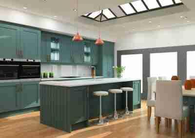Green shaker kitchen