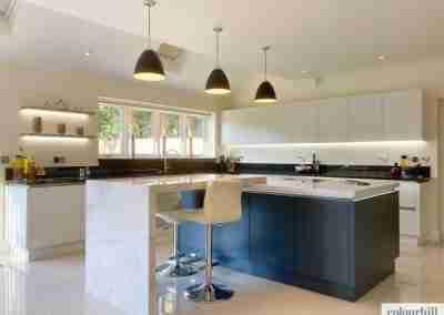 Bronze & Brass accent rail profiled luxury kitchen in Edwalton