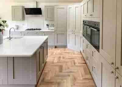 A timeless classic shaker kitchen in stone grey